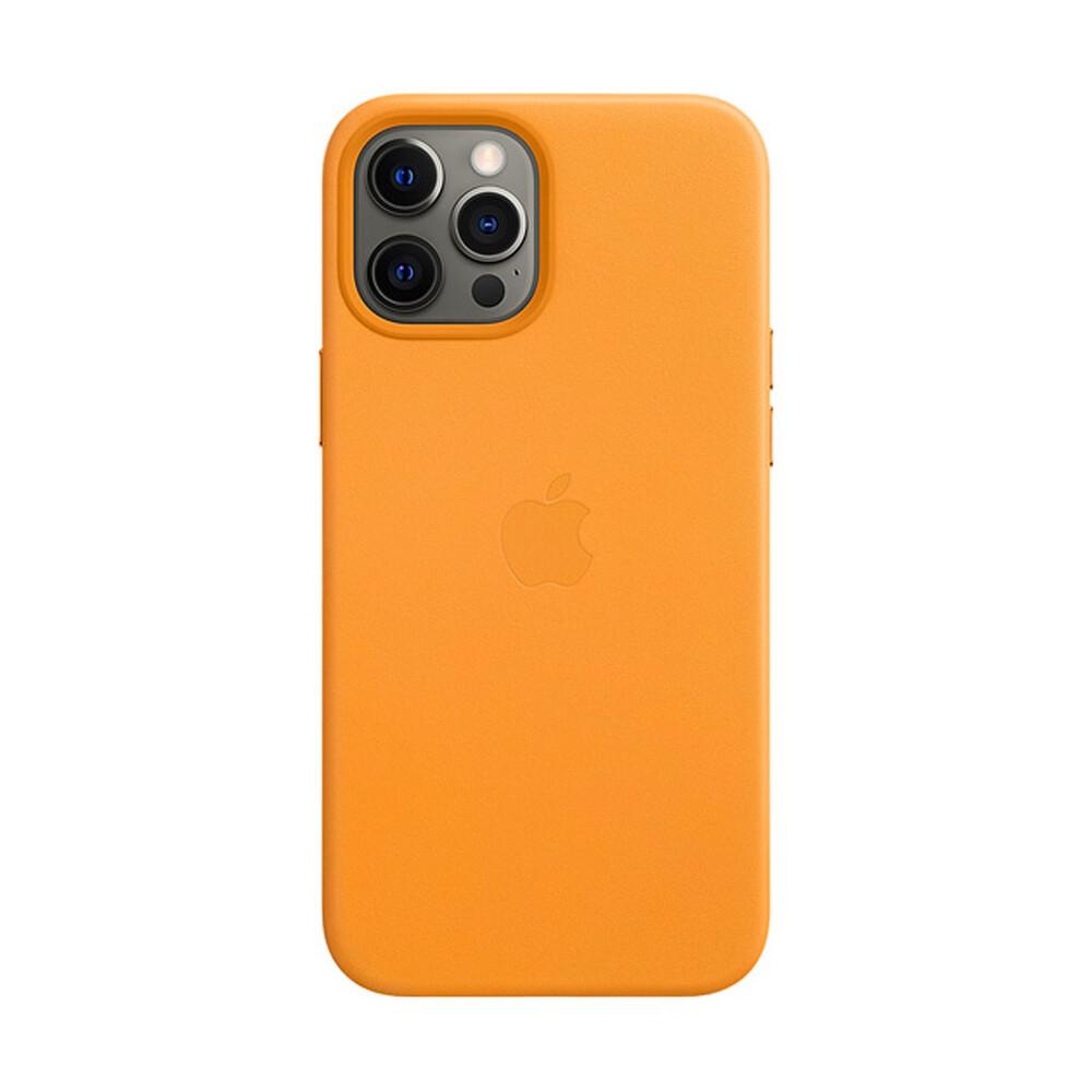 Купить Кожаный чехол iLoungeMax Genuine Leather Case MagSafe California Poppy для iPhone 12 Pro Max ОЕМ