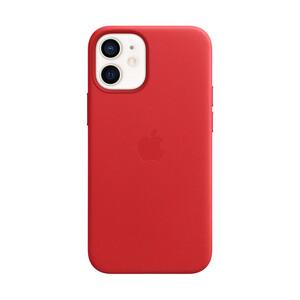 Купить Кожаный чехол oneLounge Genuine Leather Case MagSafe Red для iPhone 12 mini ОЕМ