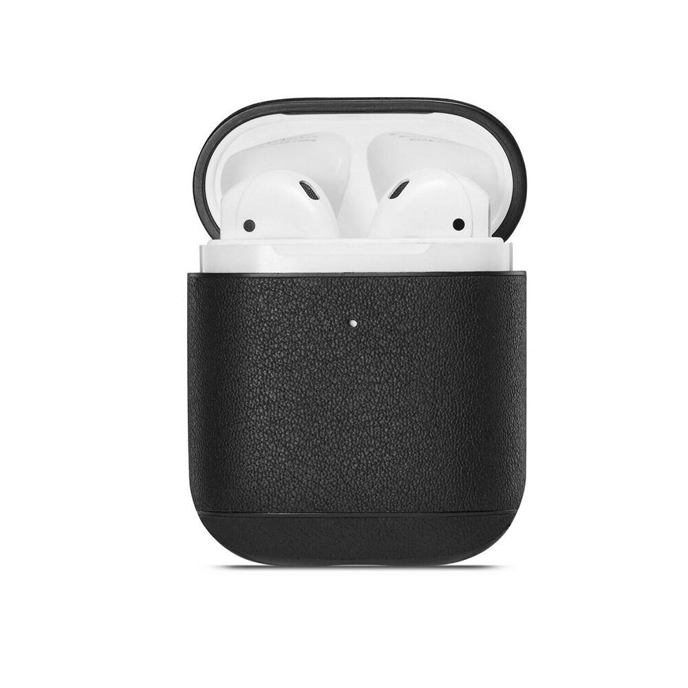 Кожаный чехол iLoungeMax Leather Case Black для Airpods 2 | 1