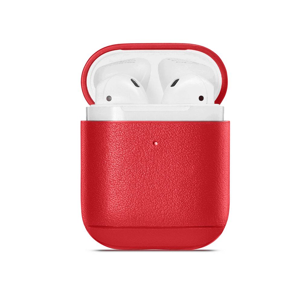 Купить Кожаный чехол oneLounge Leather Case Red для Airpods 2 | 1