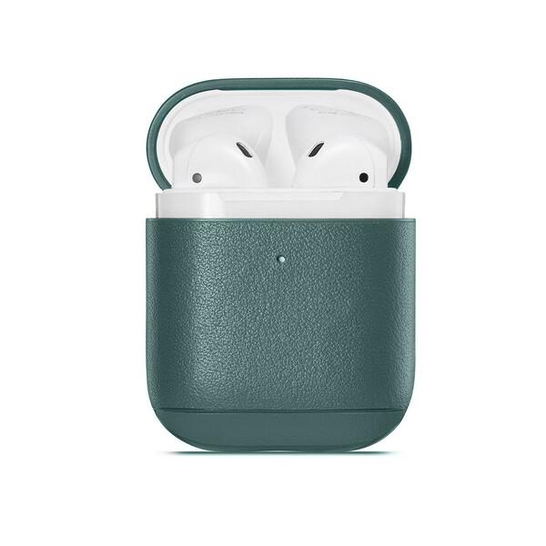 Кожаный чехол iLoungeMax Leather Case Forest Green для Airpods 2   1