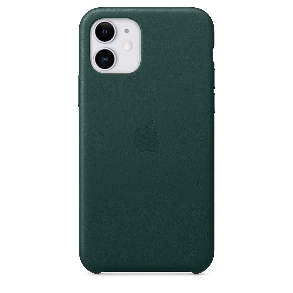 Кожаный чехол oneLounge Leather Case Forest Green для iPhone 11 OEM