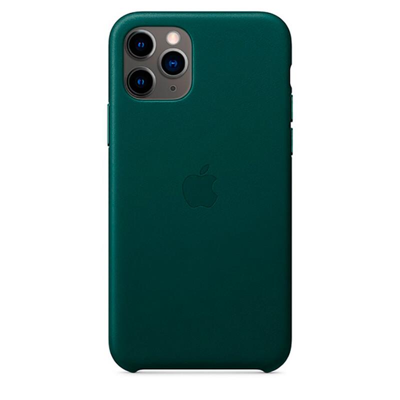 Кожаный чехол iLoungeMax Leather Case Forest Green для iPhone 11 Pro Max OEM (MX0C2)