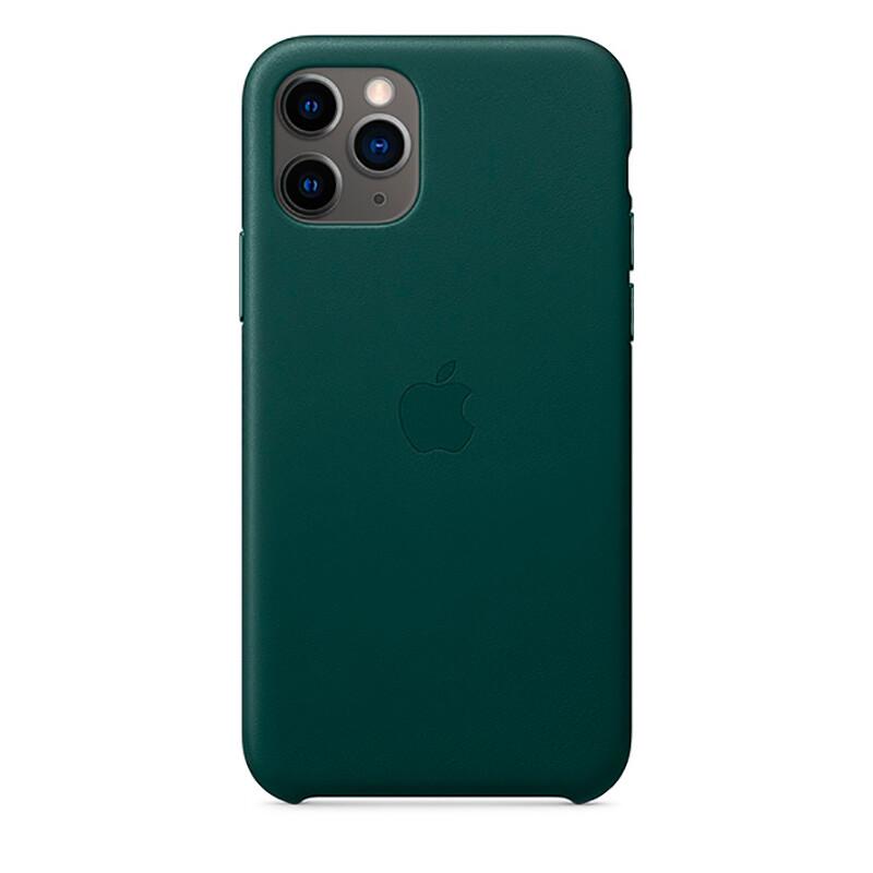 Кожаный чехол oneLounge Leather Case Forest Green для iPhone 11 Pro OEM (MWYC2)