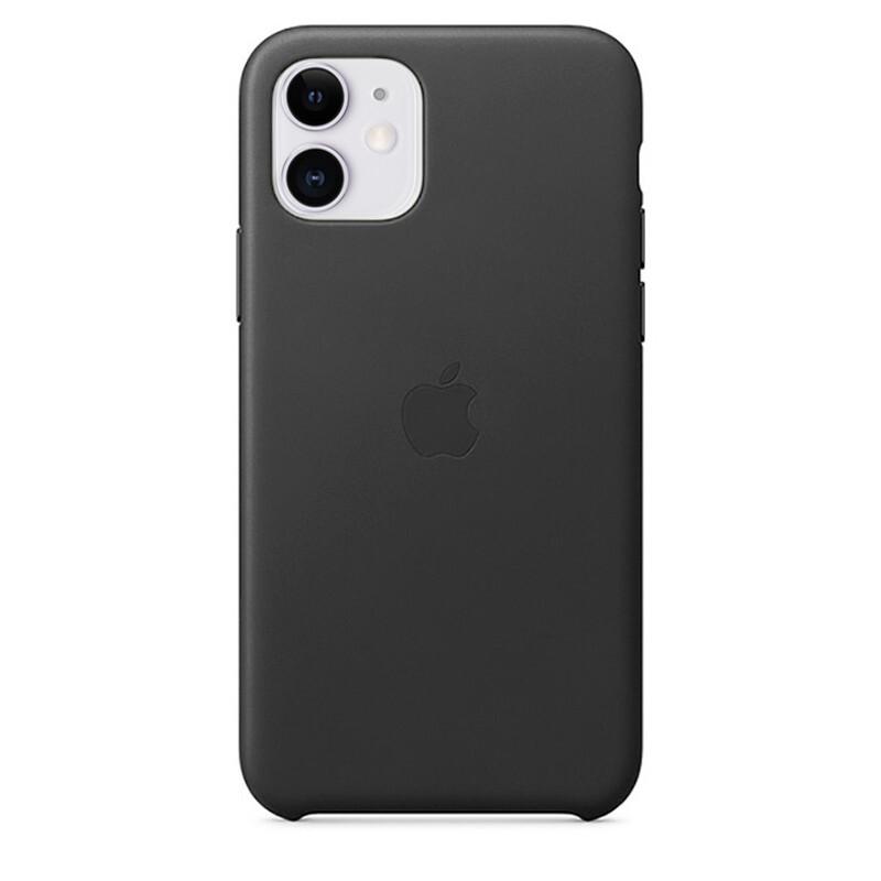 Кожаный чехол oneLounge Leather Case Black для iPhone 11 OEM