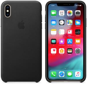 Купить Кожаный чехол oneLounge Leather Case Black для iPhone XS Max OEM (MRWT2)