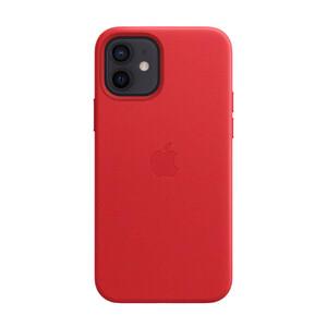 Купить Кожаный чехол oneLounge Leather Case MagSafe Red для iPhone 12 | 12 Pro OEM (с поддержкой анимации)