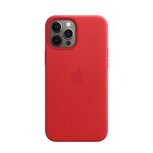 Купить Кожаный чехол oneLounge Leather Case MagSafe Red для iPhone 12 Pro Max OEM (с поддержкой анимации)