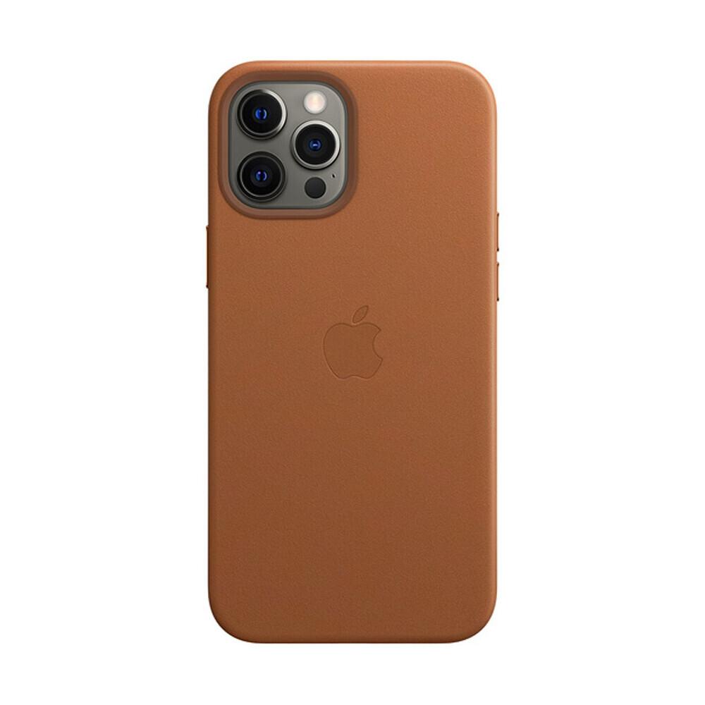 Кожаный чехол iLoungeMax Leather Case MagSafe Saddle Brown для iPhone 12 Pro Max OEM (с поддержкой анимации)