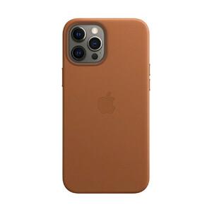 Купить Кожаный чехол oneLounge Leather Case MagSafe Saddle Brown для iPhone 12 Pro Max OEM (с поддержкой анимации)
