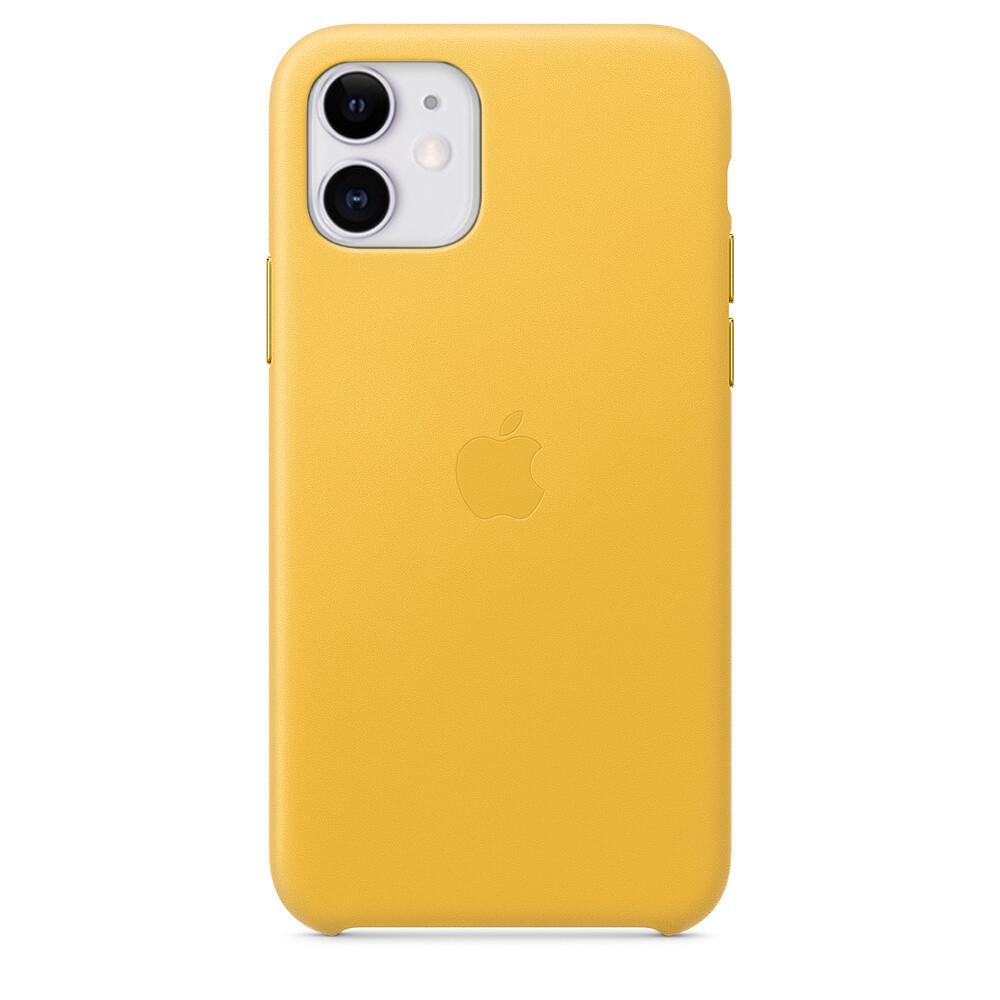 Кожаный чехол oneLounge Leather Case Meyer Lemon для iPhone 11 OEM