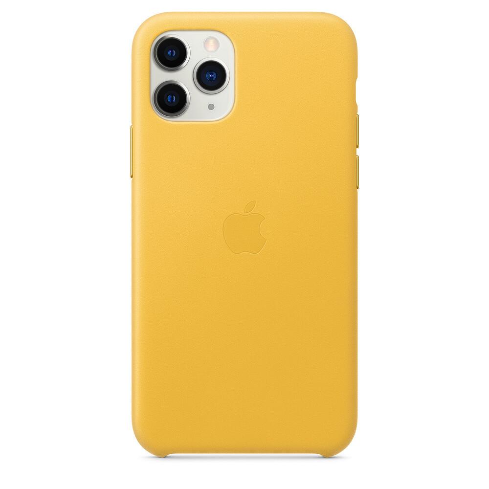 Кожаный чехол iLoungeMax Leather Case Meyer Lemon для iPhone 11 Pro Max OEM (MX0A2)