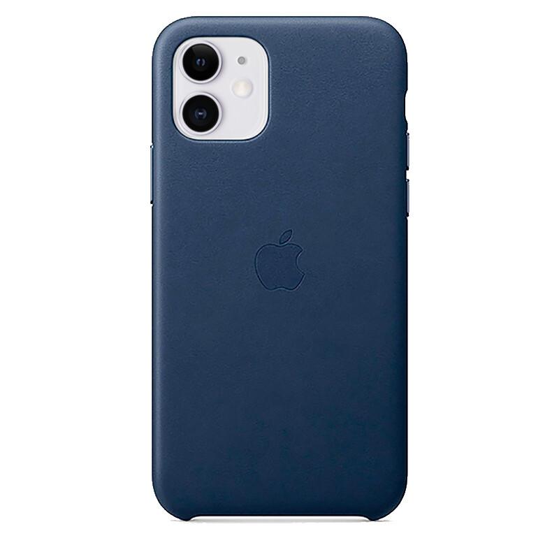 Кожаный чехол oneLounge Leather Case Midnight Blue для iPhone 11 OEM