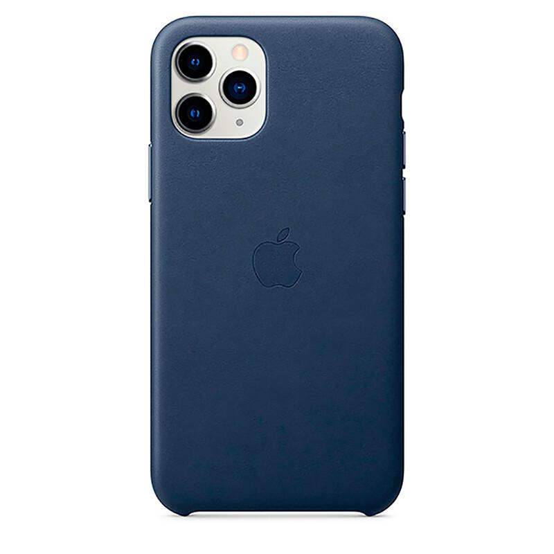 Кожаный чехол oneLounge Leather Case Midnight Blue для iPhone 11 Pro Max OEM (MX0G2)