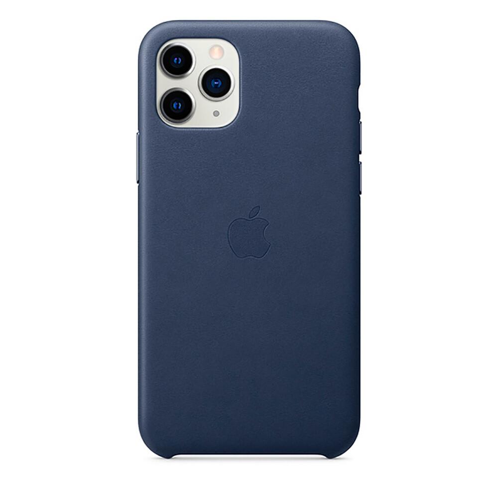 Кожаный чехол oneLounge Leather Case Midnight Blue для iPhone 11 Pro OEM (MWYG2)