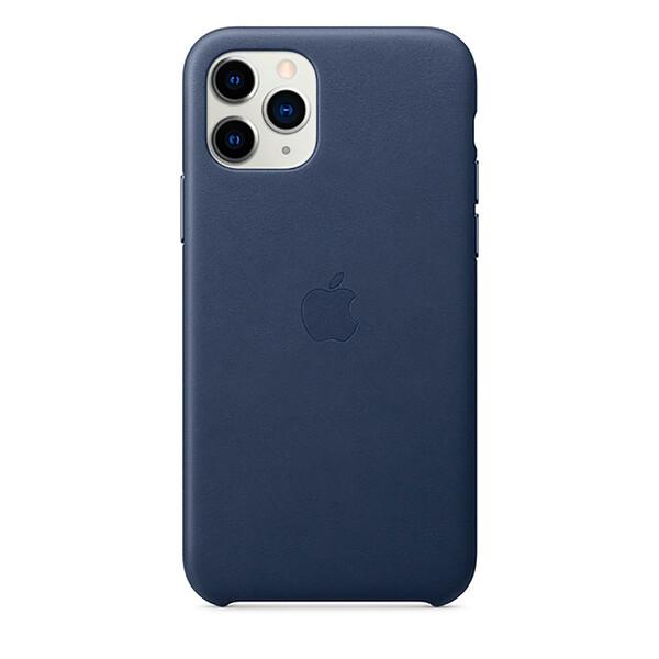 Кожаный чехол iLoungeMax Leather Case Midnight Blue для iPhone 11 Pro OEM (MWYG2)
