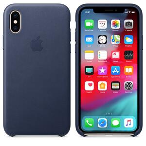 Купить Кожаный чехол oneLounge Leather Case Midnight Blue для iPhone X   XS OEM (MRWN2)