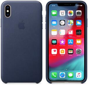 Купить Кожаный чехол iLoungeMax Leather Case Midnight Blue для iPhone XS Max OEM (MRWU2)