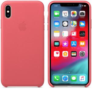 Купить Кожаный чехол iLoungeMax Leather Case Peony Pink для iPhone XS Max OEM (MTEX2)