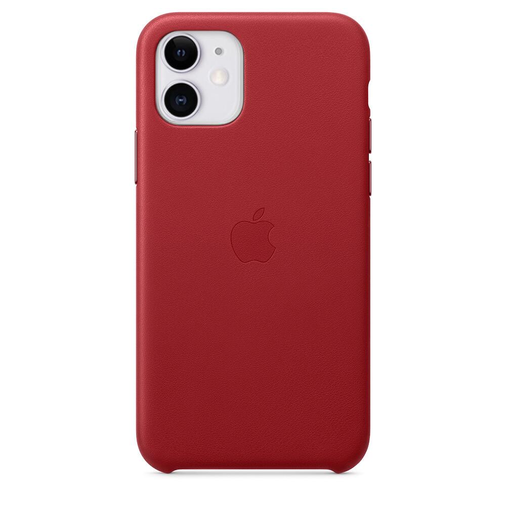 Кожаный чехол oneLounge Leather Case RED для iPhone 11 OEM