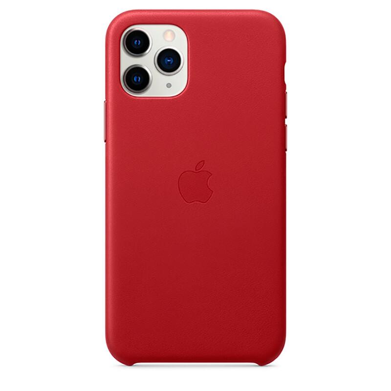Кожаный чехол oneLounge Leather Case Red для iPhone 11 Pro Max OEM (MX0F2)