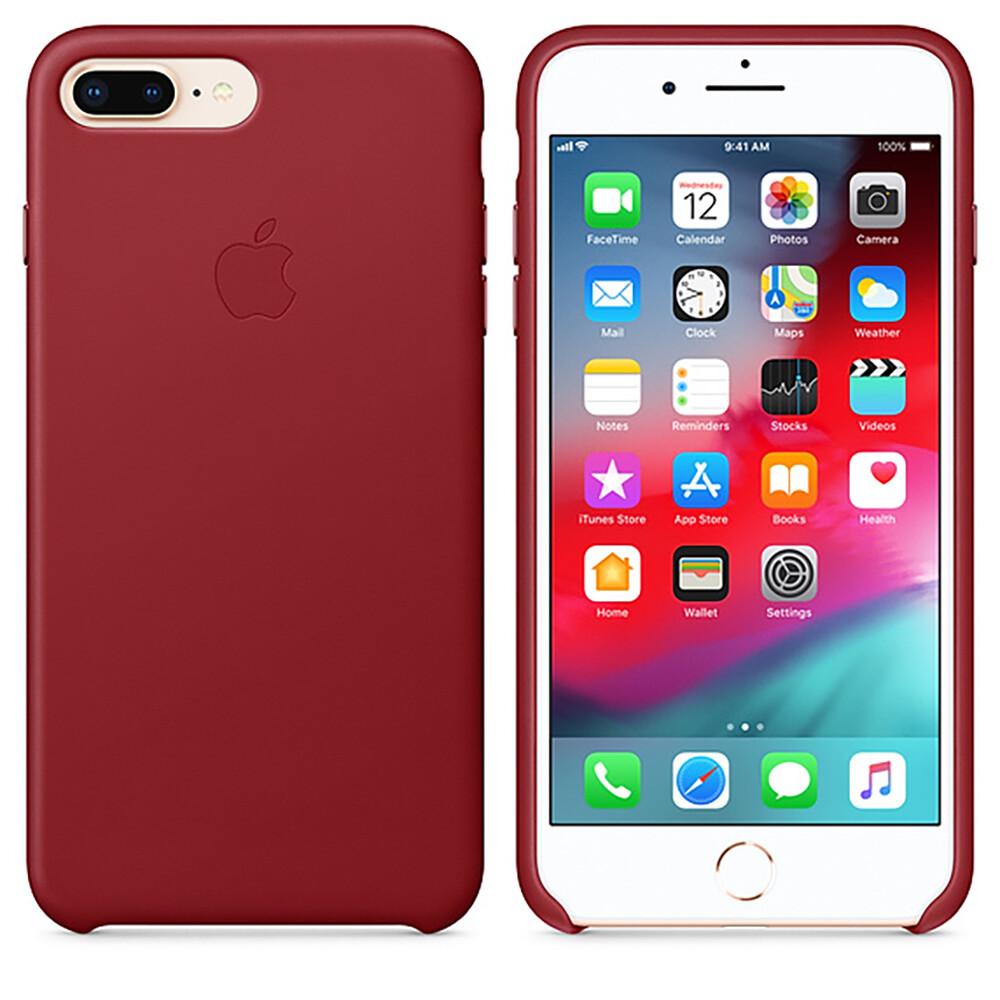Кожаный чехол iLoungeMax Leather Case RED для iPhone 7 Plus | 8 Plus OEM