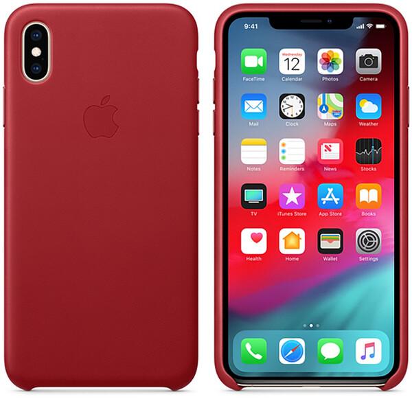 Кожаный чехол iLoungeMax Leather Case RED для iPhone XS Max OEM (MRWQ2)