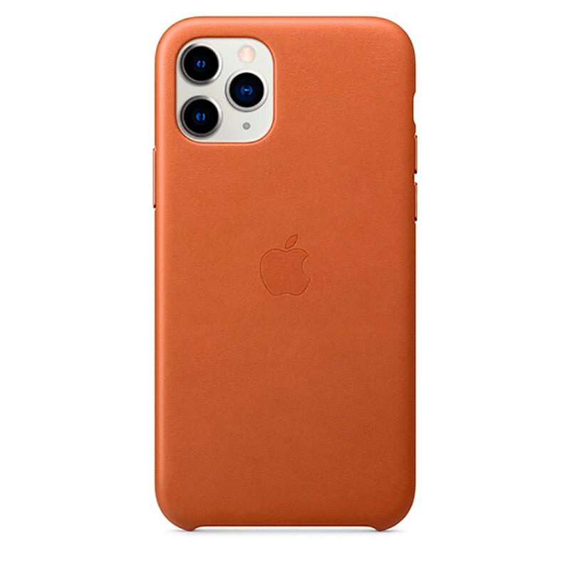 Кожаный чехол iLoungeMax Leather Case Saddle Brown для iPhone 11 Pro Max OEM (MX0D2)