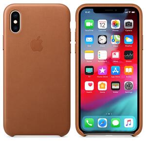 Купить Кожаный чехол oneLounge Leather Case Saddle Brown для iPhone X | XS OEM (MRWP2)