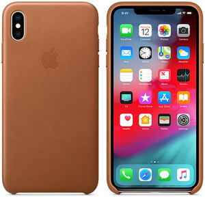 Купить Кожаный чехол oneLounge Leather Case Saddle Brown для iPhone XS Max OEM (MRWV2)
