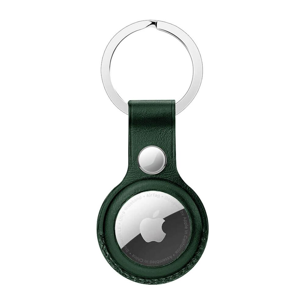 Брелок с кольцом iLoungeMax Leather Key Ring Forest Green для AirTag ОЕМ