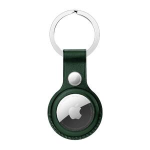 Купить Брелок с кольцом iLoungeMax Leather Key Ring Forest Green для AirTag ОЕМ