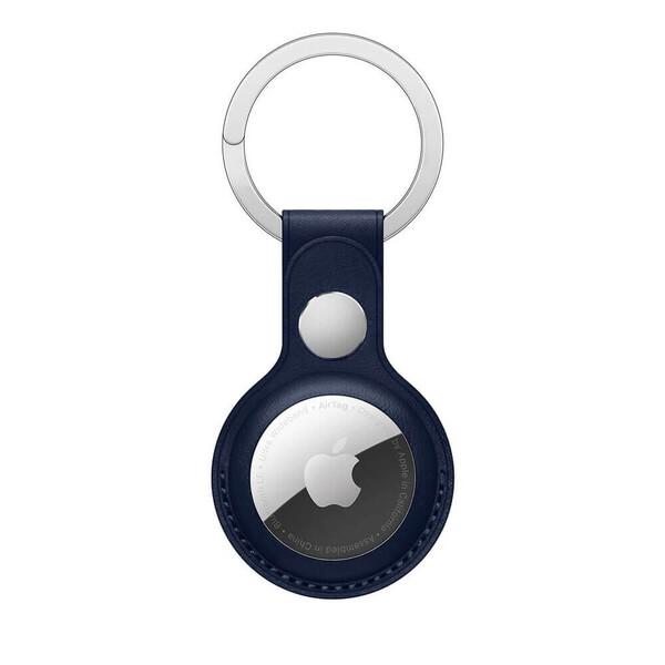Брелок с кольцом iLoungeMax Leather Key Ring Baltic Blue для AirTag ОЕМ
