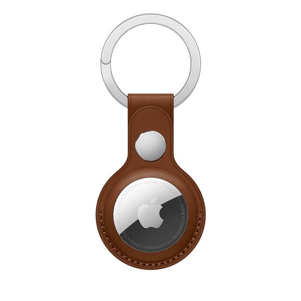 Купить Брелок с кольцом iLoungeMax Leather Key Ring Saddle Brown для AirTag ОЕМ