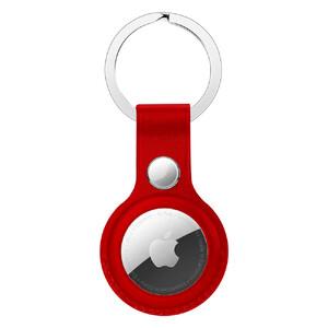 Купить Брелок с кольцом iLoungeMax Leather Key Ring Red для AirTag ОЕМ