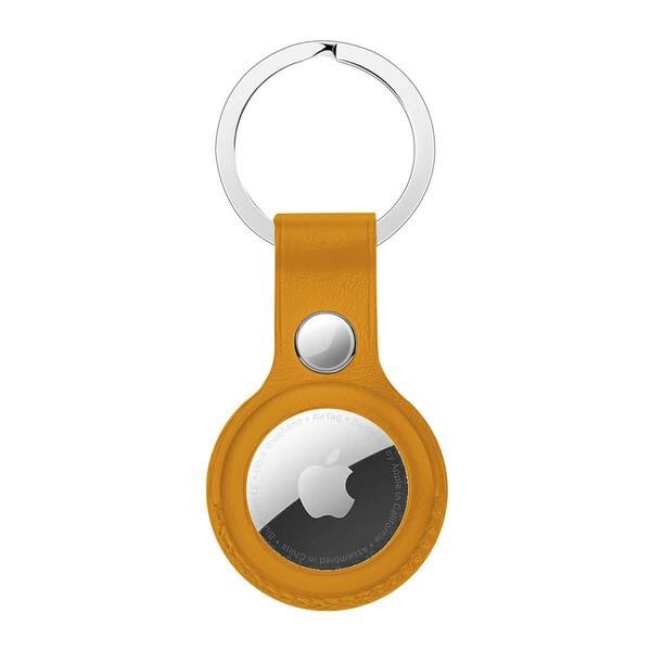 Брелок с кольцом iLoungeMax Leather Key Ring California Poppy для AirTag ОЕМ