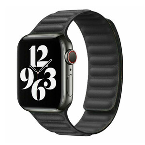Купить Ремешок oneLounge Leather Link Magnetic Black для Apple Watch 42mm | 44mm (M | L) OEM