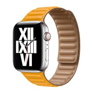 Купить Ремешок iLoungeMax Leather Link Magnetic Yellow для Apple Watch 42mm | 44mm (M | L) OEM
