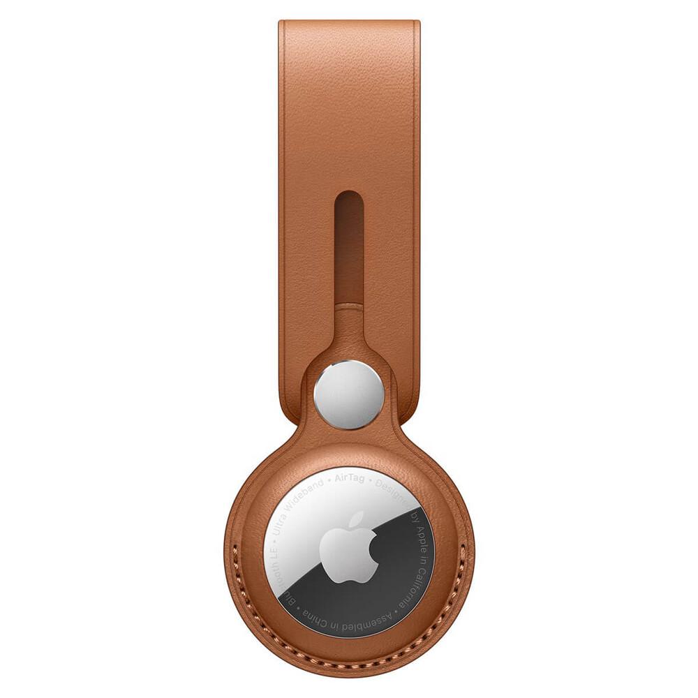 Купить Брелок-петля iLoungeMax Leather Loop Saddle Brown для AirTag OEM