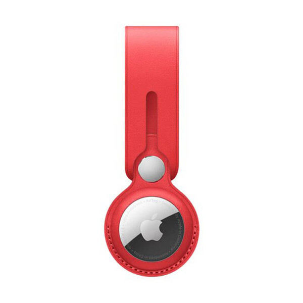 Брелок-петля iLoungeMax Leather Loop Red для AirTag OEM