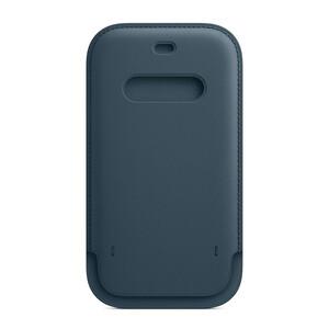 Купить Кожаный чехол-бумажник iLoungeMax Leather Sleeve with MagSafe Baltic Blue для iPhone 12 | 12 Pro OEM
