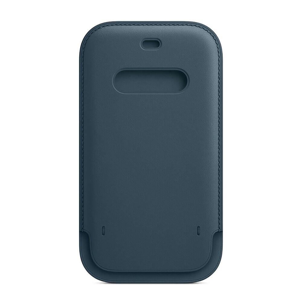 Кожаный чехол-бумажник iLoungeMax Leather Sleeve with MagSafe Baltic Blue для iPhone 12 mini OEM