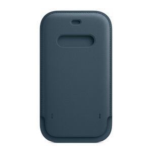 Купить Кожаный чехол-бумажник oneLounge Leather Sleeve with MagSafe Baltic Blue для iPhone 12 mini OEM