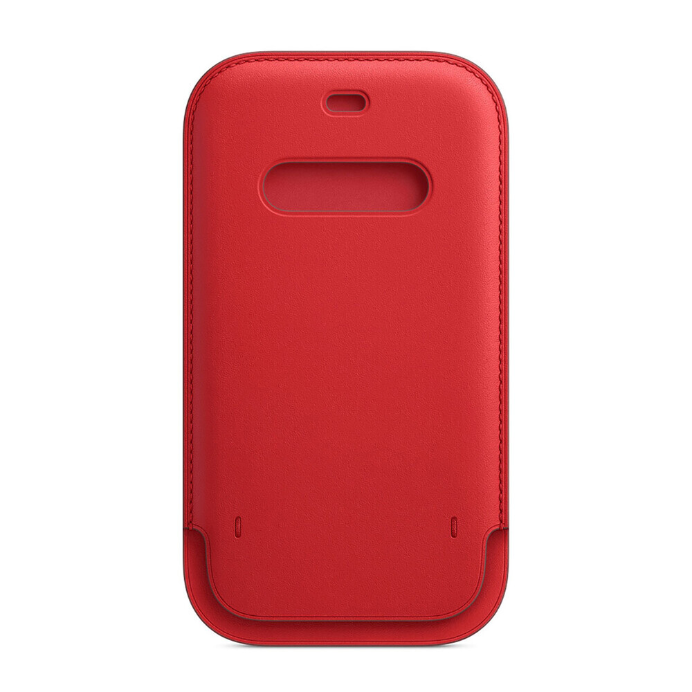 Купить Кожаный чехол-бумажник oneLounge Leather Sleeve with MagSafe Red для iPhone 12 Pro Max OEM