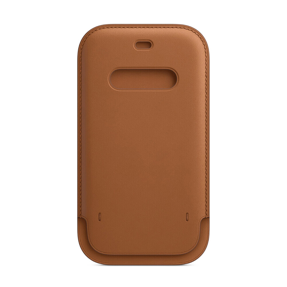 Кожаный чехол-бумажник iLoungeMax Leather Sleeve with MagSafe Saddle Brown для iPhone 12   12 Pro OEM