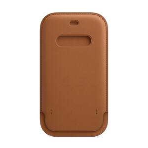 Купить Кожаный чехол-бумажник iLoungeMax Leather Sleeve with MagSafe Saddle Brown для iPhone 12 Pro Max OEM