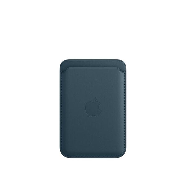 Кожаный чехол-бумажник iLoungeMax Leather Wallet MagSafe Baltic Blue для iPhone 12 | 12 mini | 12 Pro | 12 Pro Max OEM