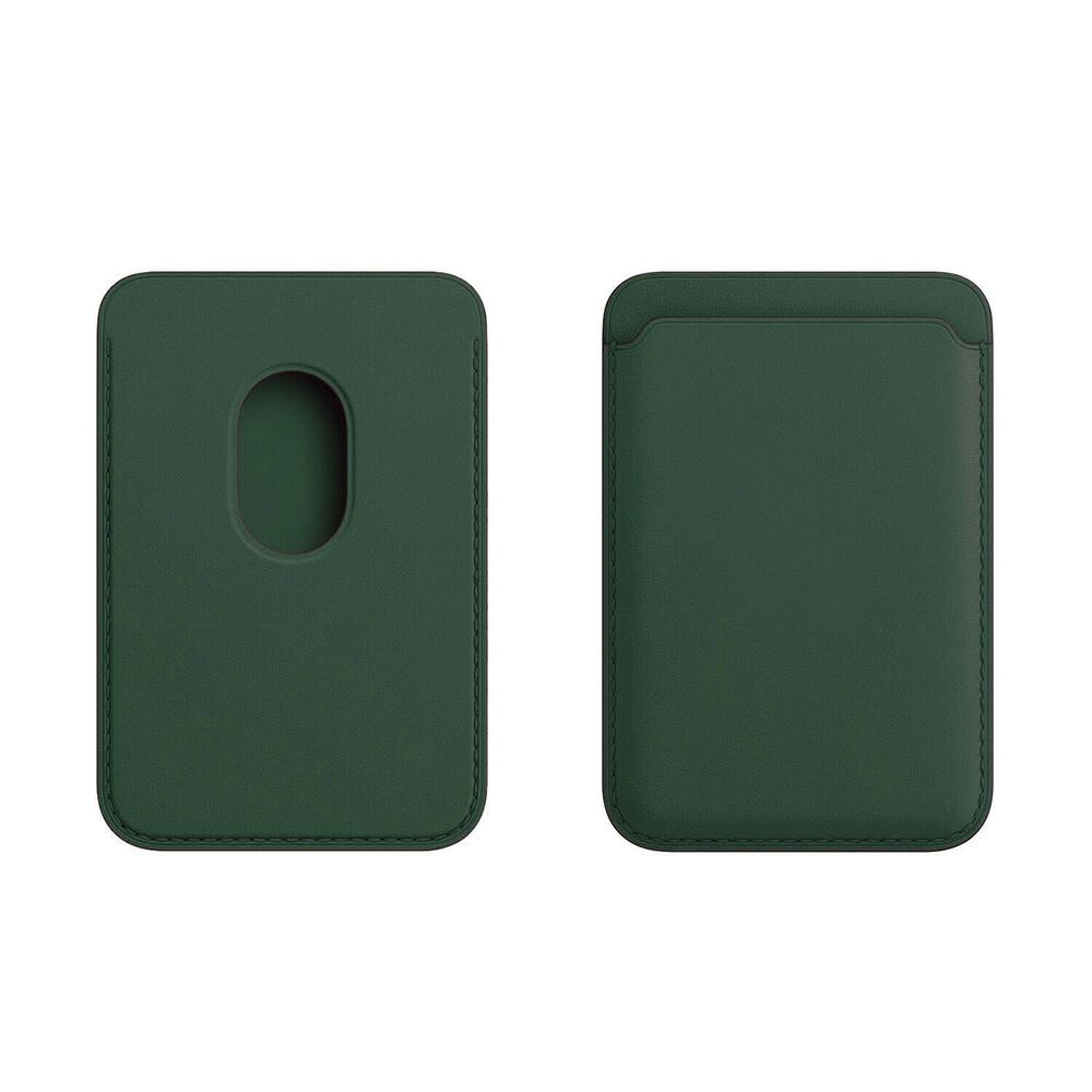 Купить Кожаный чехол-бумажник iLoungeMax Leather Wallet MagSafe Forest Green для iPhone 12 | 12 mini | 12 Pro | 12 Pro Max OEM