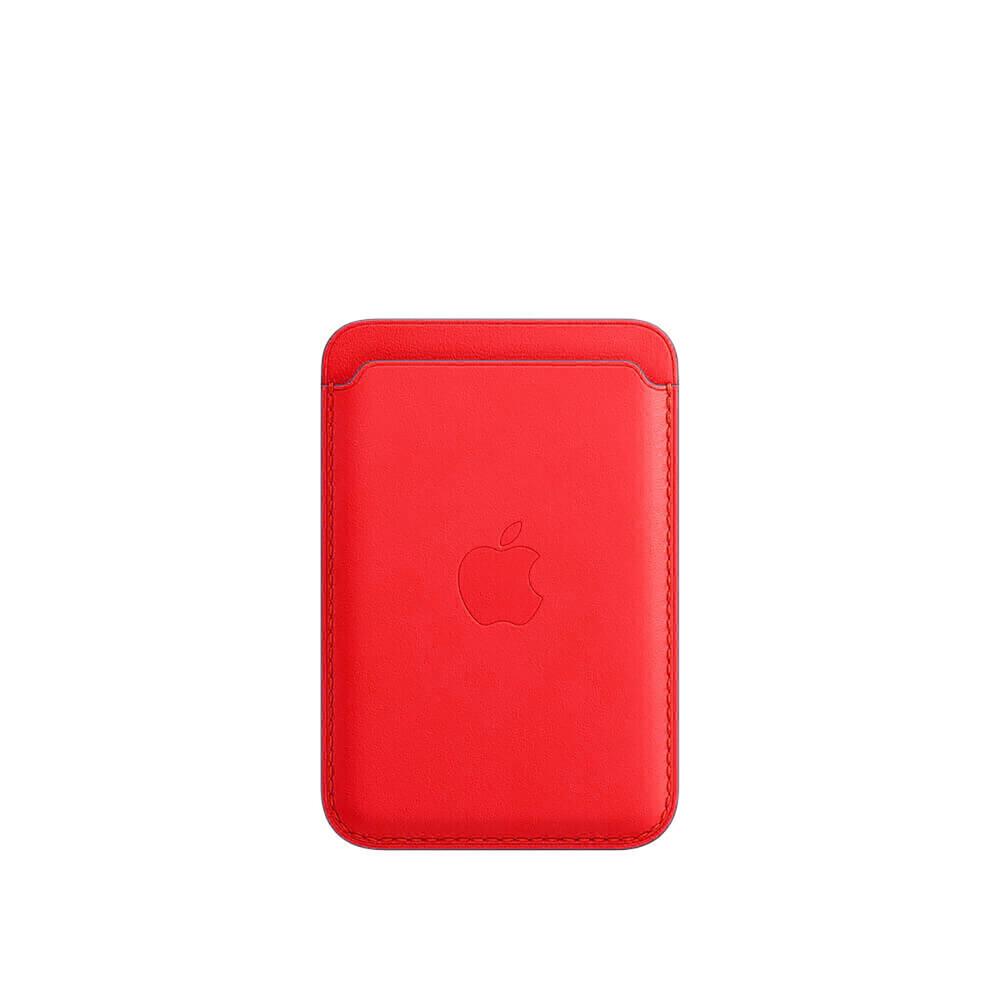 Купить Кожаный чехол-бумажник oneLounge Leather Wallet MagSafe Forest Red для iPhone 12 | 12 mini | 12 Pro | 12 Pro Max OEM