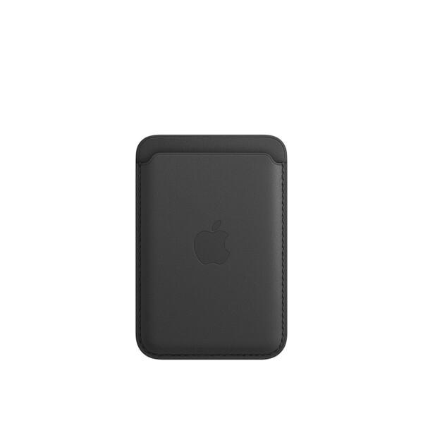 Кожаный чехол-бумажник iLoungeMax Leather Wallet MagSafe Black для iPhone 12 | 12 mini | 12 Pro | 12 Pro Max OEM